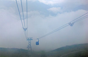 World-record setting cable car in Sapa-Fasipan